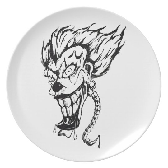 Evil clown Melamine Plate