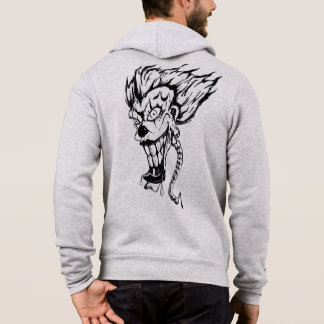 Evil clown Men's Bella+Canvas Full-Zip Hoodie