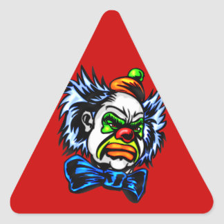 Evil Clown Murders Triangle Sticker