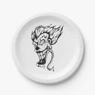 Evil clown paper plates
