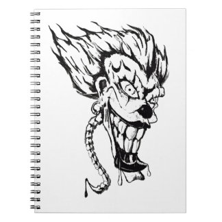 Evil clown Photo Notebook (80 Pages B&W)