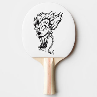 Evil clown Ping Pong Paddle