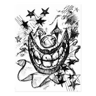 Evil Clown Postcards