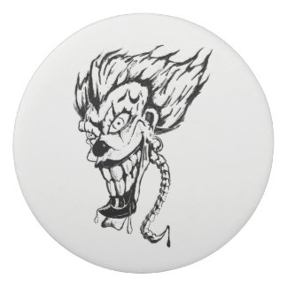 Evil clown Round Eraser