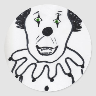 Evil Clown Round Sticker