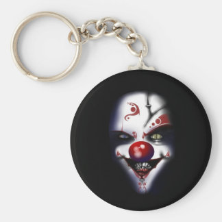 evil clown scary halloween basic round button key ring