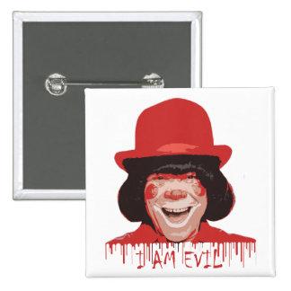 Evil Clown Square Button