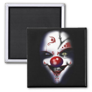 Evil Clown Square Magnet