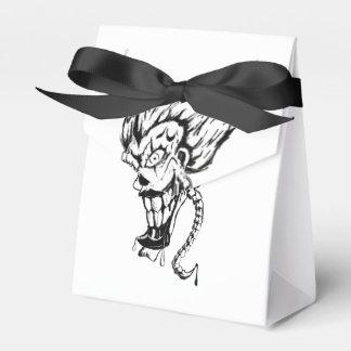 Evil clown tent favor box