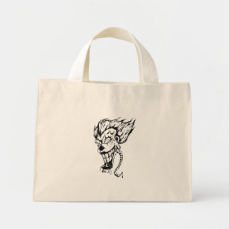 Evil clown tiny tote bag