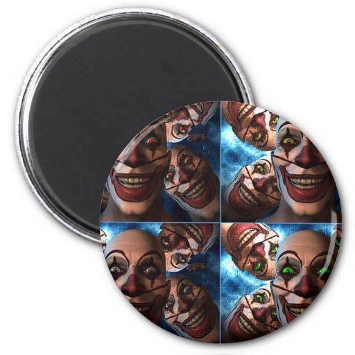 Evil Clowns Fridge Magnets