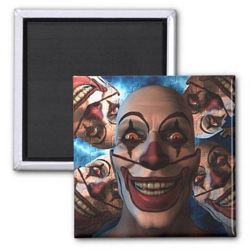 Evil Clowns Fridge Magnet