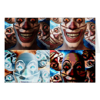 Evil Clowns Trick or Treat? Greeting Card