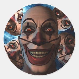Evil Clowns - Trick or Treat! Round Sticker