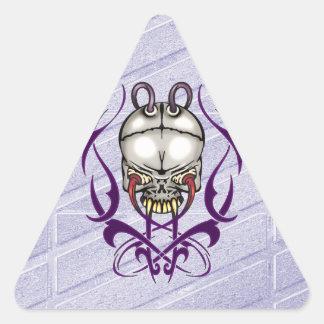 Evil Cyborg Skull Sticker