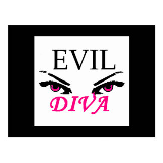 Evil Diva with vampy eyes Postcard