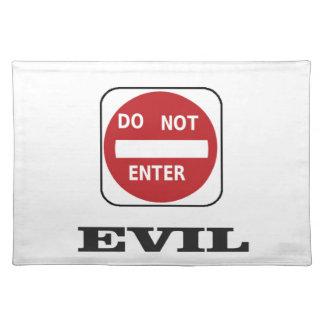 evil dne bad placemat