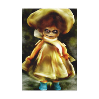 EVIL DORA  DOLL, haunted doll product scary art Canvas Print