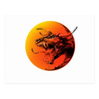 Evil dragon postcard