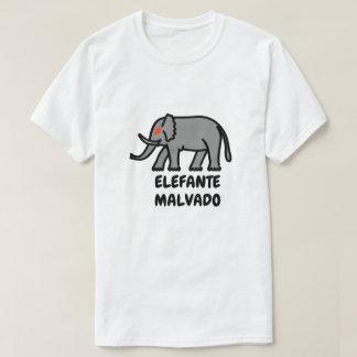 Evil elephant and Spanish text elefante malvado T-Shirt