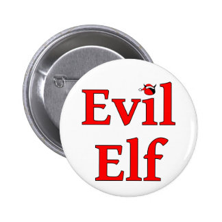 Evil Elf Round Holiday Pin