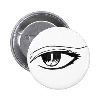 evil eye 6 cm round badge