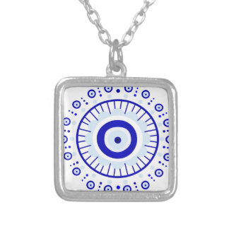 Evil Eye Burst Silver Plated Necklace
