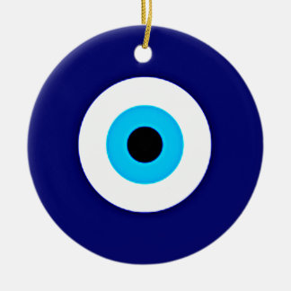 Evil Eye Charm Ceramic Ornament