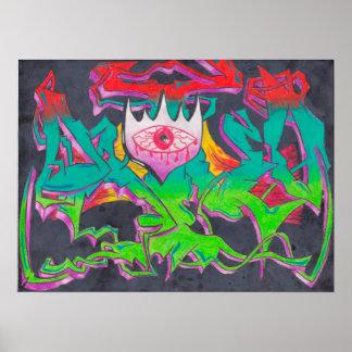Evil Eye Graffiti Poster