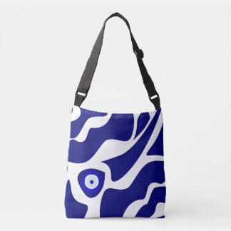 Evil Eye Lava Pattern Cross Body Tote Bag