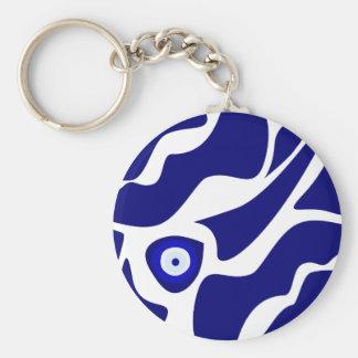 Evil Eye Lava Pattern Key Ring