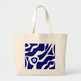 Evil Eye Lava Pattern Large Tote Bag