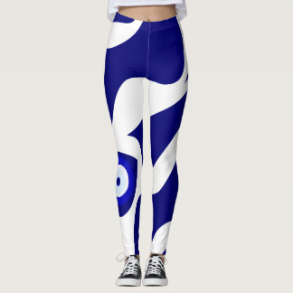 Evil Eye Lava Pattern Leggings