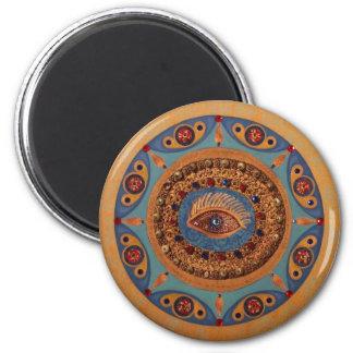 Evil Eye Mandala: Original Art Refrigerator Magnets