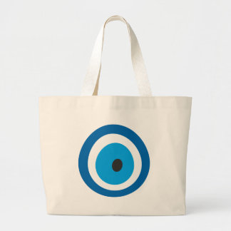 Evil Eye, Nazar, Charm, Luck, Protection, Spiritua Large Tote Bag