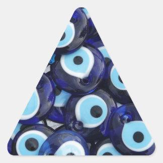 Evil Eye protection Amulets Triangle Sticker