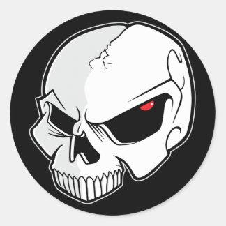 Evil Eye Skull Round Stickers
