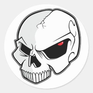 Evil Eye Skull Round Sticker