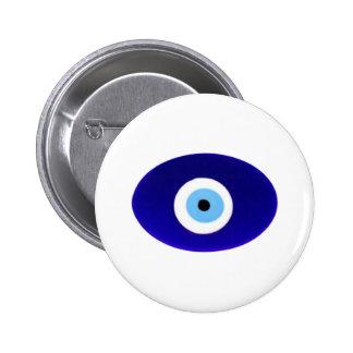 Evil Eye Talisman 6 Cm Round Badge