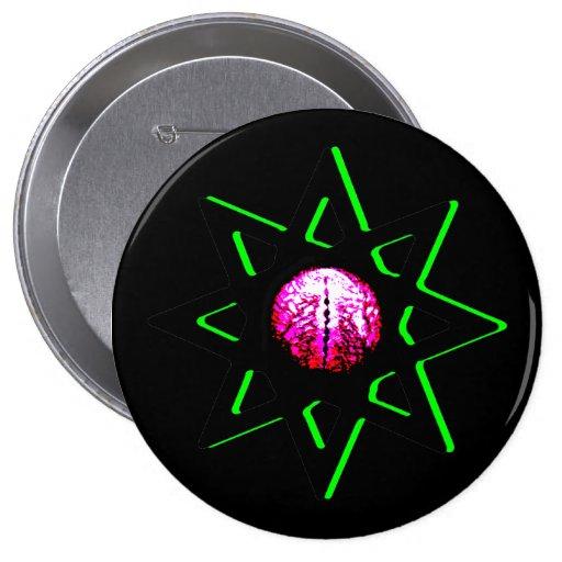Evil Eye Talisman Button - Occult Symbol Octagram