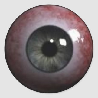 evil eyeball classic round sticker