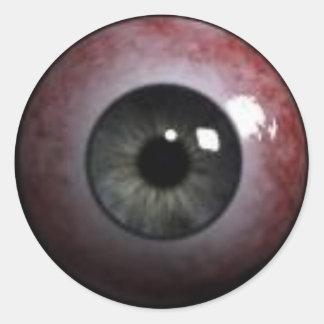 evil eyeball round sticker