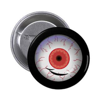 Evil Eyed Grin Button
