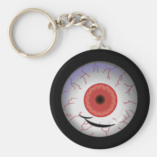 Evil Eyed Grin Basic Round Button Key Ring