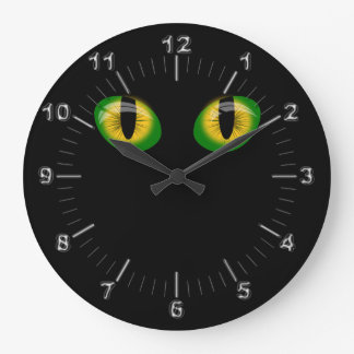 Evil eyes large clock