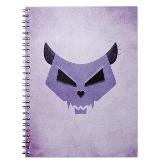 Evil Eyes Purple Cat Skull Note Books