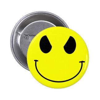 Evil Face Smiley Button