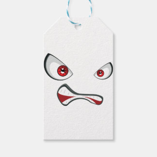 Evil Face with Red Eyes 2 Gift Tags