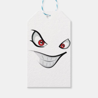 Evil Face with Red Eyes Gift Tags