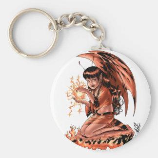 Evil Fairy doing Magic by Al Rio Key Ring